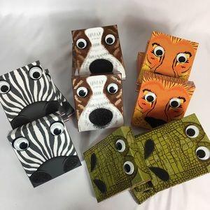 Other - Party Favor Boxes - Zebra, Lion, Frog, Dog - 16